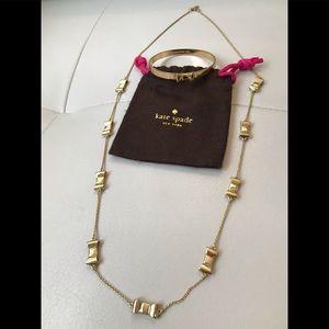 🎀 EUC Kate Spade 🎀 Bow Bracelet Plus Necklace 🎀